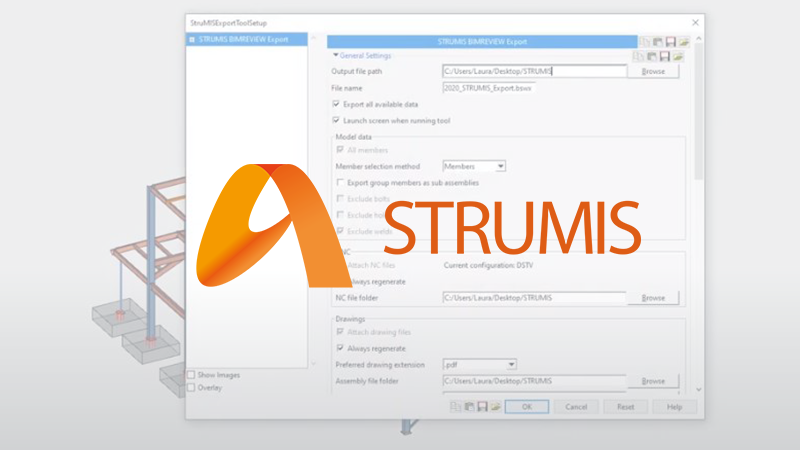 SDS2 Toolbox - Strumis BIMReview Export