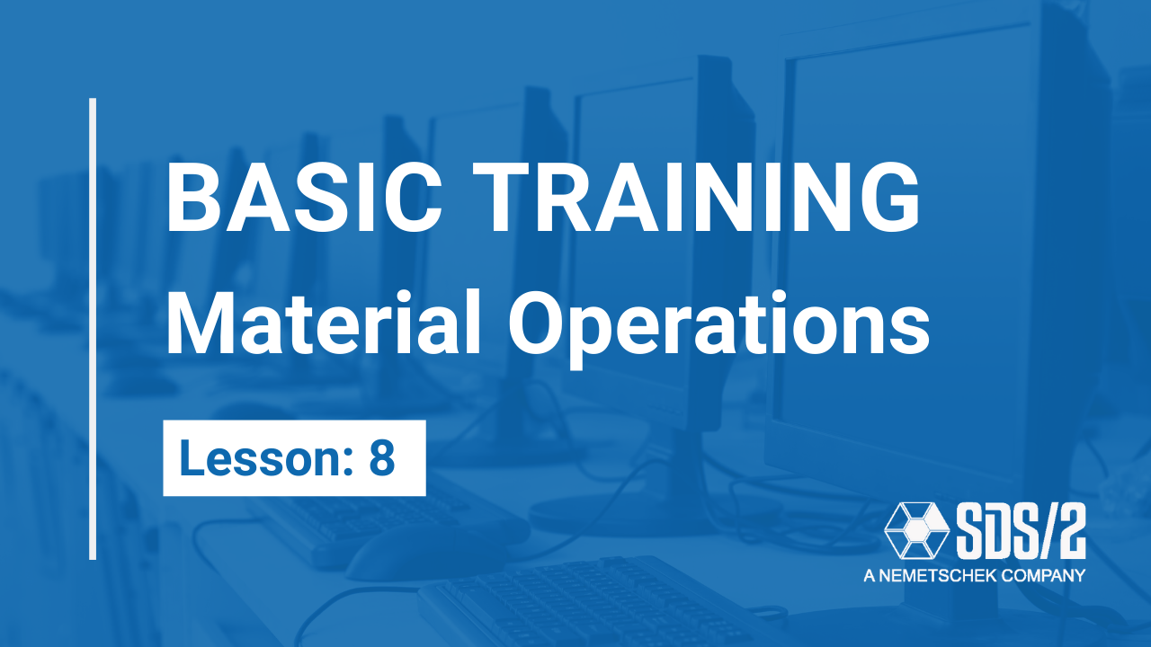Lesson 8: Material Operations