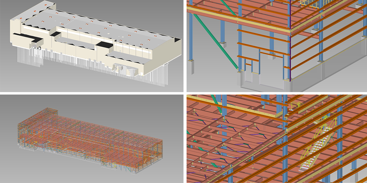 Paper Machine Hall SDS/2 3D Detailing Model