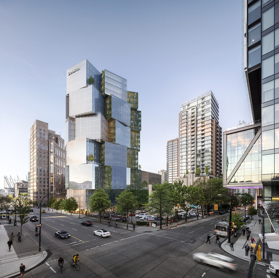 Image courtesy of Westbank. Deloitte Summit office tower in Vancouver.